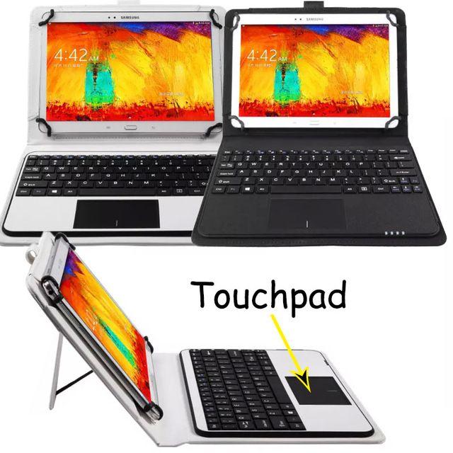 Съемная Беспроводной Bluetooth клавиатура с тачпадом + PU кожаный чехол для Galaxy Note 10.1 GT-N8000 N8010