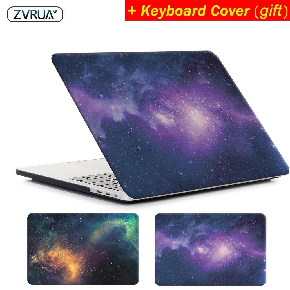 ZVRUA ÉTOILE ordinateur portable étui pour macbook Air 11 13 pouces pour APPLE MAC Pro avec Écran Retina 12 13.3 15 avec Barre Tactile Neuf + couverture de clavier