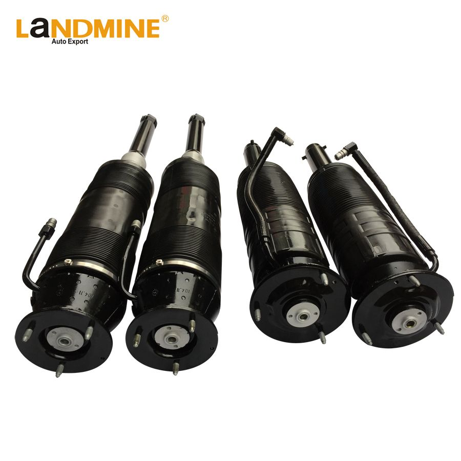 Free Shipping Mercedes W220 W215 4PCS Rear+Front Hydropneu ABC Suspension Shock Absorber 2203208913(9013) 2153200513(0413)