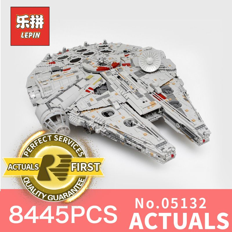 Lepin 05132 star wars sternzerstörer millennium falcon kompatibel mit LegoINGlys 75192 starwars bricks bausteine