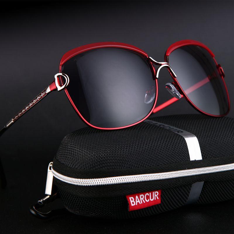 BARCUR lunettes de soleil polarisées pour femmes lunettes de soleil femmes verres de soleil marque de luxe oculos feminino lentes de sol mujer