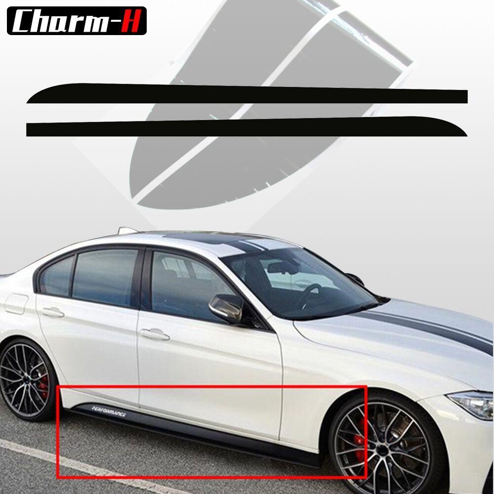 2 pcs 5D Carbone Fibre Côté Jupe Seuil Bande Decal Pour BMW F30 F31 M-Paquet M Ligne M sport M Performance Autocollants