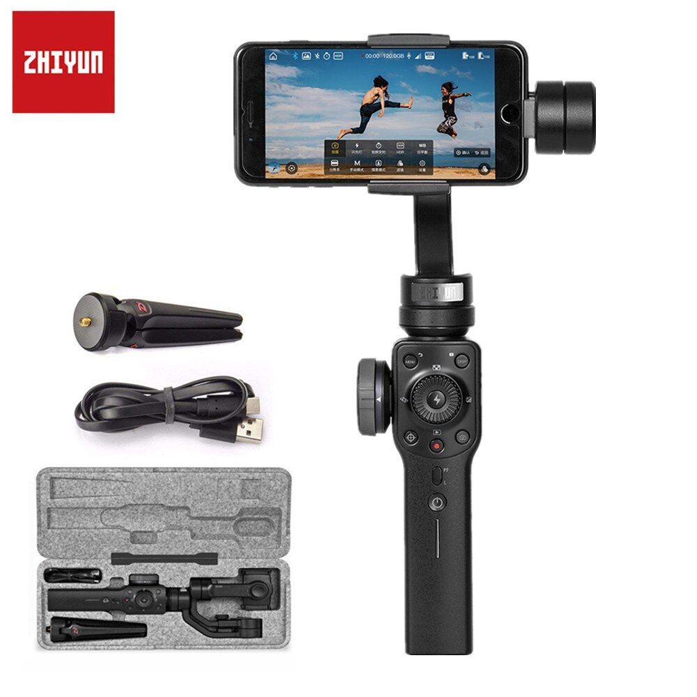 Zhiyun Smooth 4 3-Axis Handheld Gimbal Stabilizer Mobile Phone For xiaomi iPhone X Samsung Smartphone Camera With Mini Tripod