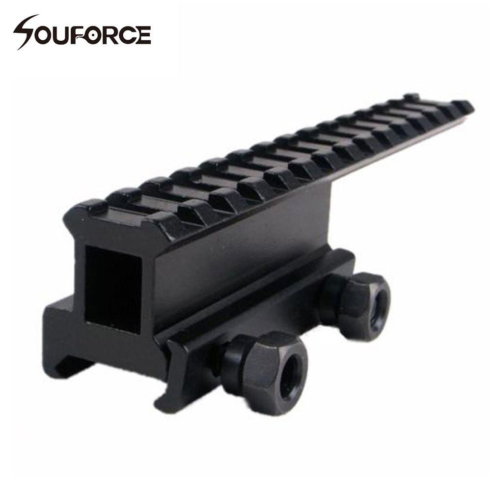 Convertisseur de Base de montage de Rail d'extension tactique pour Picatinny 20mm/Rail de tisserand pour lunette de visée pistolets Airsoft