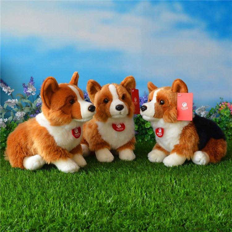 Free Shipping 25CM Welsh Corgi Pembroke Plush <font><b>Toys</b></font> Simulation Corgis Stuffed <font><b>Toy</b></font> Puppy Dog Plush Dolls Gifts For Kids
