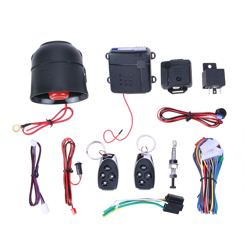 Universal Car Alarm Vehicle System Protection Security System Keyless Entry Siren with 2 Remote Control Burglar Hot Sale New