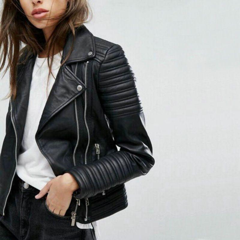 2019 New Fashion Women Soft Motorcycle Faux Leather Jackets Ladies Long Sleeve Autumn Winter Biker Streetwear Black Pink Coat