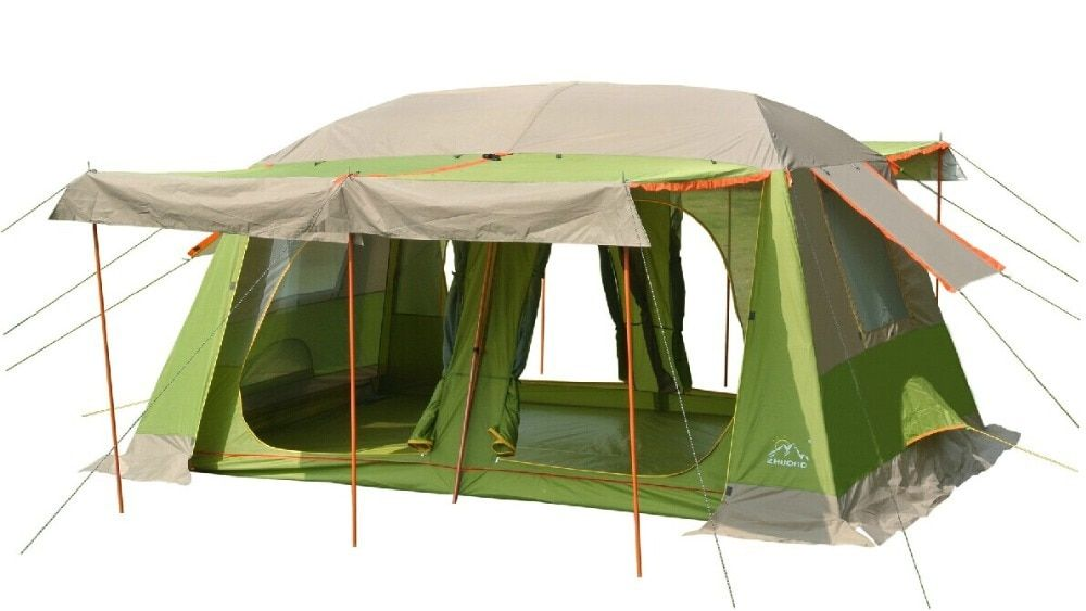 Large military tents8-10 people outdoor camping tent 2 rooms outdoor military camping tent for Family travel