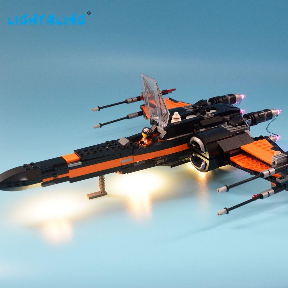 Lightaling LED Light Set For Famous Brand 75102 <font><b>Star</b></font> Wars Poe's X-Wing Fighter Model Kit Blocks Toy