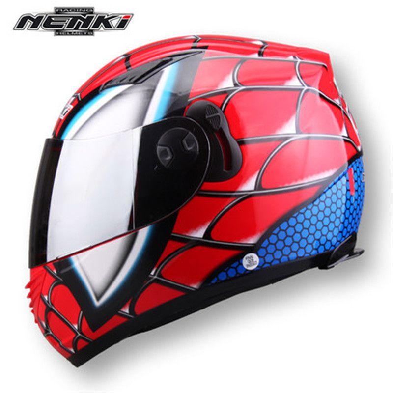 NENKI830 et la double équitation moto casque quatre lentille matériel Iron Man!
