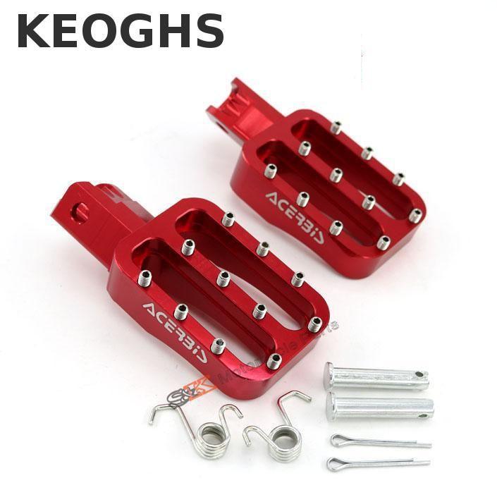Keoghs Pair Cnc Motocross Footpegs Racing Foot Pegs Pedals For Honda Xr50 Crf50 Xr70 Kayo Sdg Irbis Klx Ttr Bse Pit Dirt Bike