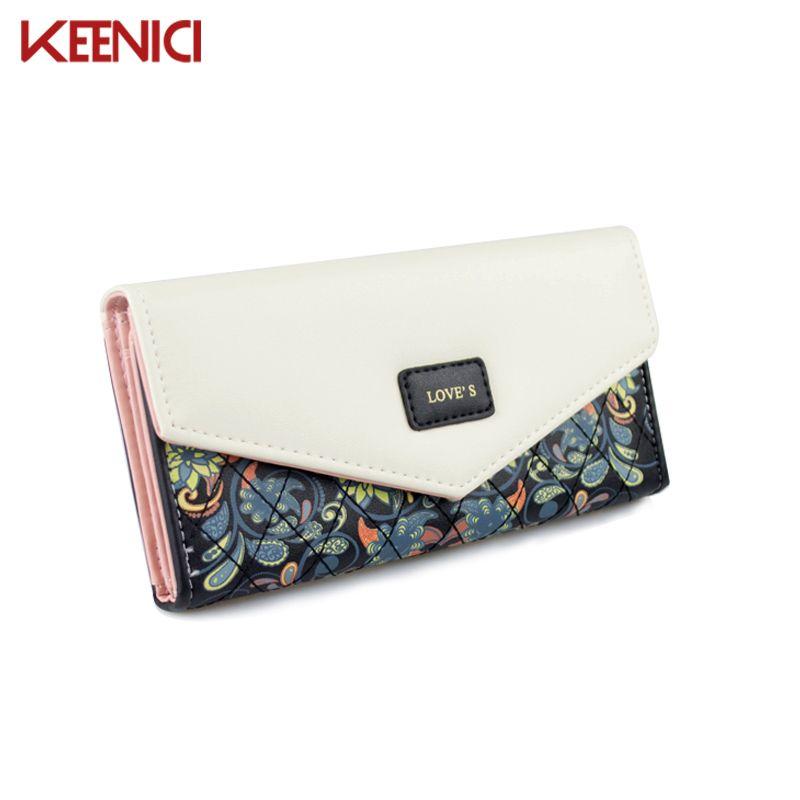 KEENICI Famous Brand Designer Luxury Long Wallet Women Wallets Evening Clutch Female Bag Ladies Money Coin Purse Carteras Cuzdan