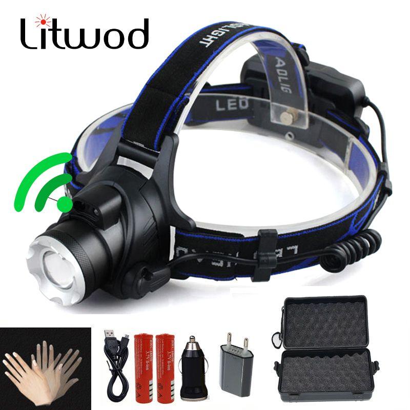 LED Phare 5000lm T6/L2 led projecteur zoom tête lampe de poche réglable projecteur En Option accessoire 18650 batterie avant lumière