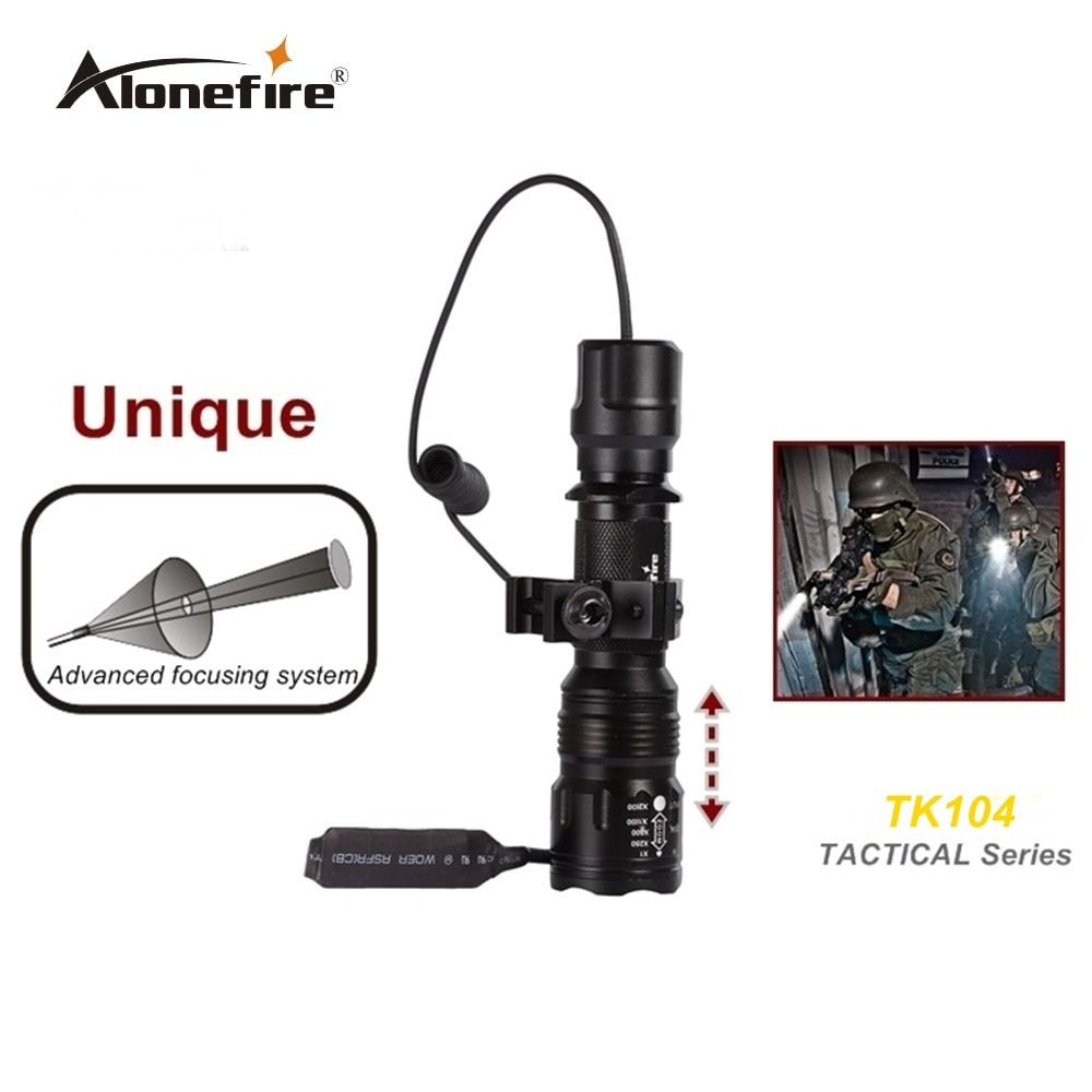 TK104 CREE XM L2 LED Tactical Gun Flashlight 2300LM Pistol Handgun Torch Light Lamp Taschenlampe+gun scope mount+remote switch
