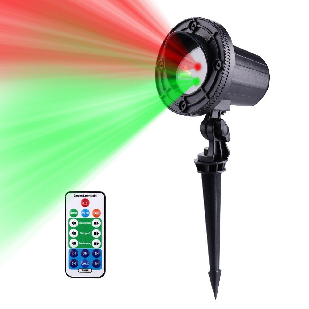 New 24 Patterns Red Green motion Christmas Projector RF Remote Outdoor Laser light Stars IP65 Waterproof Xmas Garden Decoration