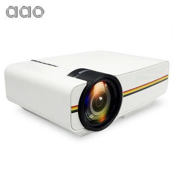 AAO YG400 up YG410 Mini Projecteur Filaire Sync Affichage Portable Vidéo Pour Home Cinéma Soutien 1080 p Proyector AC3 HDMI VGA USB