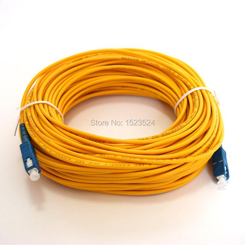 Livraison Gratuite SM SX 3mm 30 M 9/125um 30 Mètres Câble À Fiber Optique Cavalier SC/PC-SC/PC Fiber Optique Patch Cordon