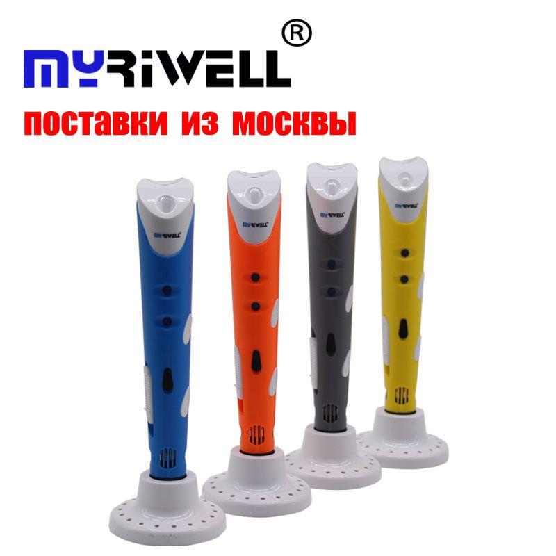 Myriwell 3d stylo Creative 3D Impression Stylos Intelligence Dessin 3d imprimante stylo Avec ABS Filament 3D Meilleur Cadeau pour les Enfants imprimante
