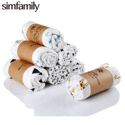[Simfamily] 1 unid muselina 100% algodón Baby Swaddles recién nacido suave baño mantas gasa bebé envoltura sleepsack cochecito cubierta estera del juego