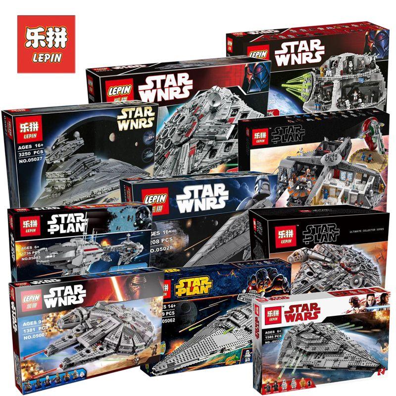 Lepin 05132 05007 05151 05028 Star Wars Figures Millennium Falcon Set Model Building Blocks Bricks Toy Compatible LegoINGs 75192