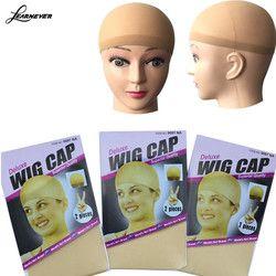 1Pc Elastic Mesh Glueless Hair Crochet Braids Unisex Nylon Bald Wig Hair Cap Stocking Snood Mesh Stretch Wigs Caps M02891