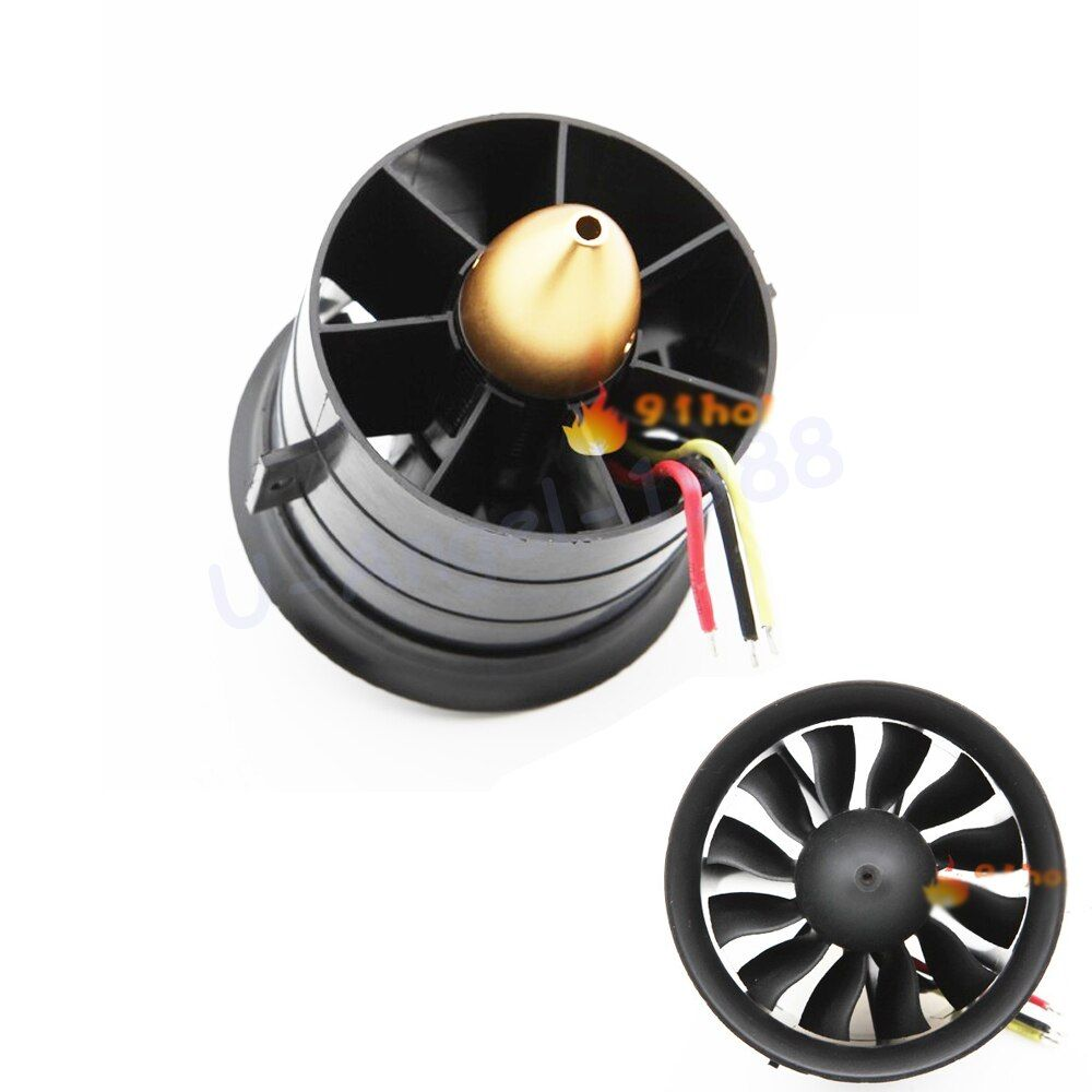Change Sun 70mm Ducted Fan 12 Blades with EDF 2839 motor kv2600 all set