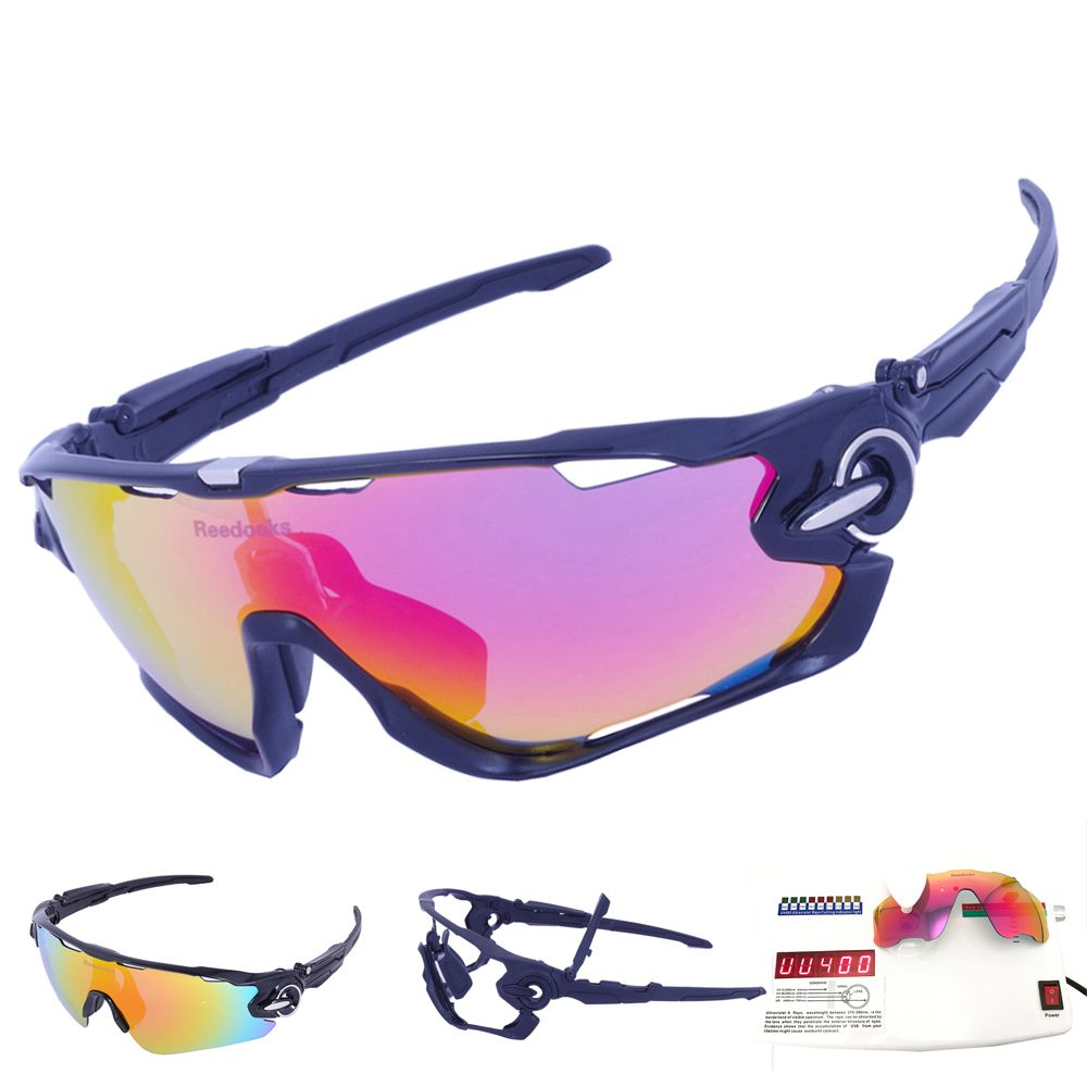 SALE ! 3 Lens Mens Polarized Brand Cycling Glasses <font><b>Mountain</b></font> Bike Goggles Sports Eyewear Bicycle Sunglasses Outdoor Goggles