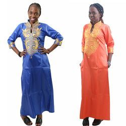 H & D 2018 dashiki algodón africano Vestidos Top Bazin para las mujeres africana tradicional africano privado ropa personalizada dashiki