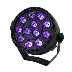 Светодиодный сценический световой эффект 12x3 Вт ультрафиолетового цвета плоский Par DMX512 dj лампы для дискотеки KTV бар вечерние подсветка луч п...
