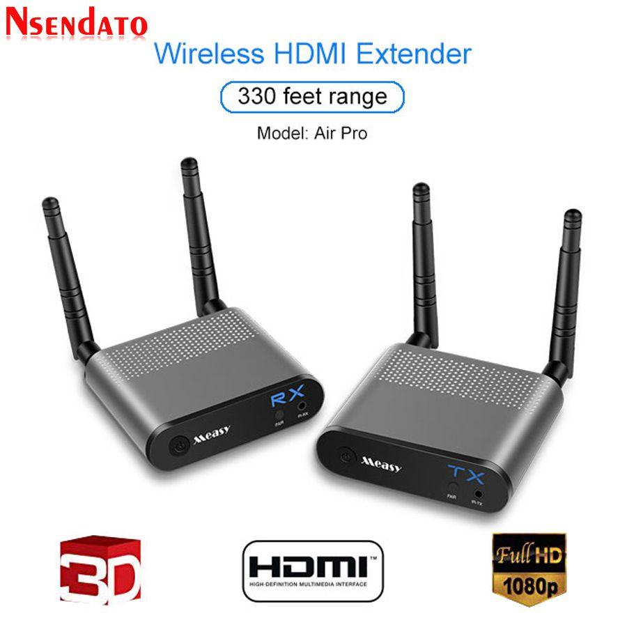 Measy Air Pro 100 M/330FT 2,4 ghz/5,8 ghz Wireless Wifi HDMI Audio Video Extender Sender Sender empfänger Kit Mit IR-Signal