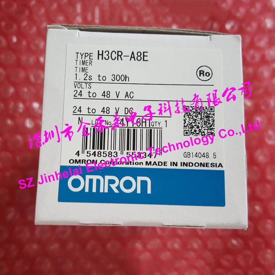 100%New and original H3CR-A8E OMRON Time relay, Time calculator,Solid state timer 100-240VAC 24-48VAC/DC