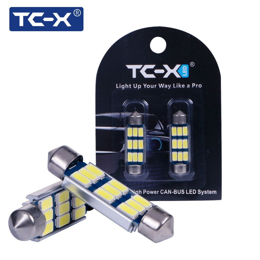 TC-X 1 Paar LED Dome Girlande Auto Signalleuchten 5730 SMD Canbus 31 36 39 42 MM 12 V Selbstbirne Auto Innenbeleuchtung Auto-styling lampe