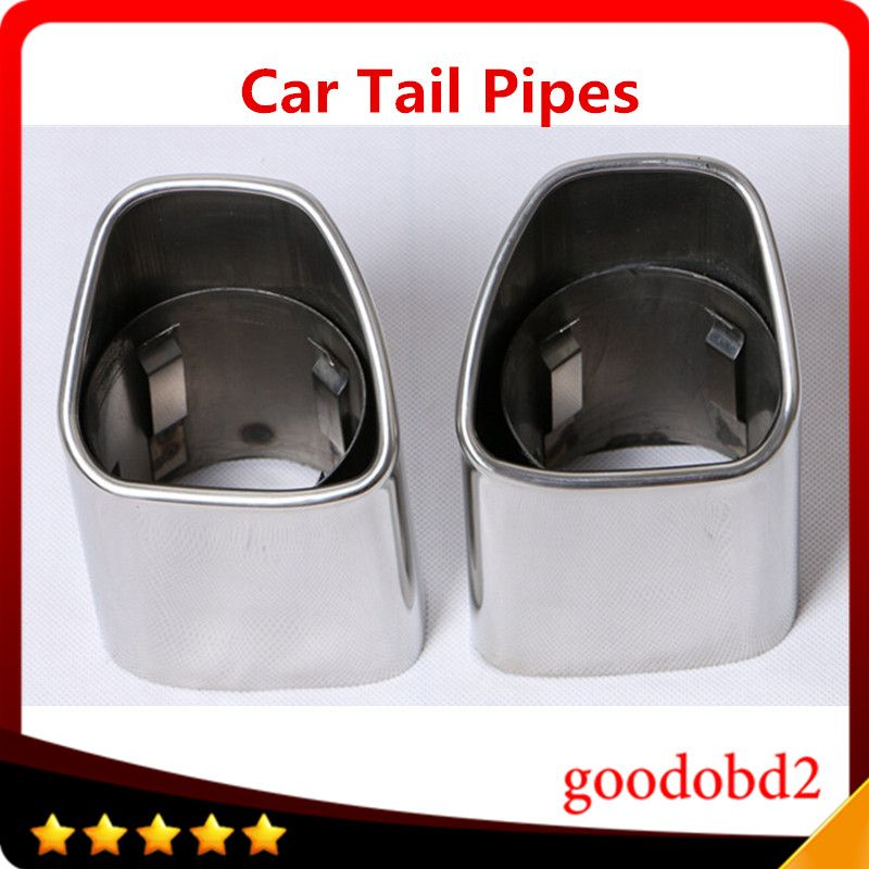 Car accessories Stainless Steel Auto Exhaust Muffler Exhaust Pipe Car tail pipe Fit For VOLVO XC90 XC60 Rear Exhaust muffler Tip