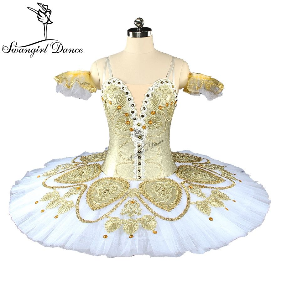 adult gold white professional ballet Nutcracker tutu concert platter competition performance classical ballet tutus BT9152