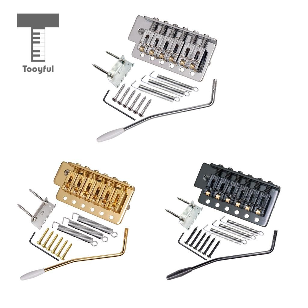 Tooyful 6 String Electric Guitar Roller Saddle Tremolo Bridge System with Whammy Bar for ST SQ