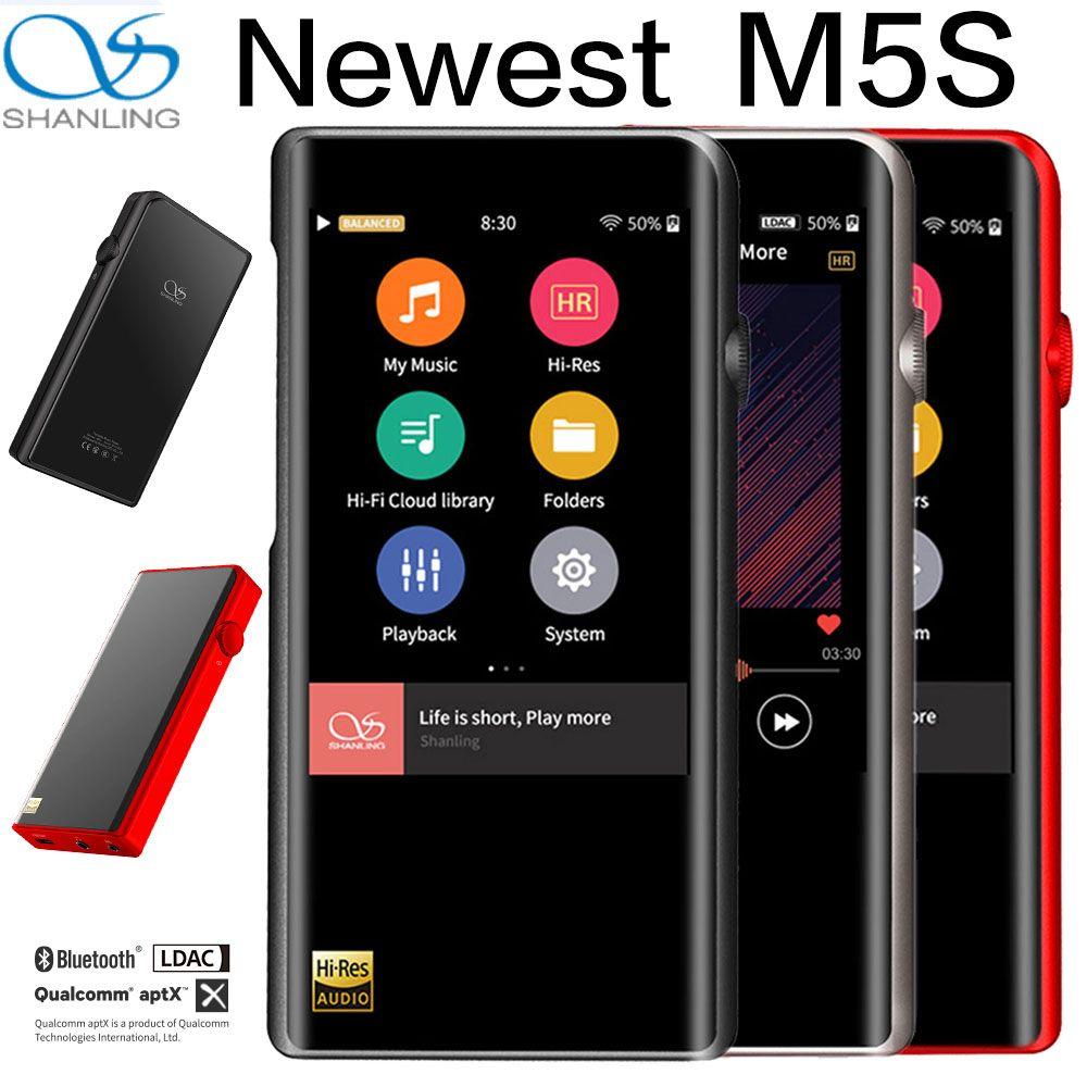Shanling M5S Bluetooth MP3 Player WiFi Apt-X Verlustfreie Tragbare Musik Spieler Retina DOP DSD256 Hallo-Res Audio ausgewogene