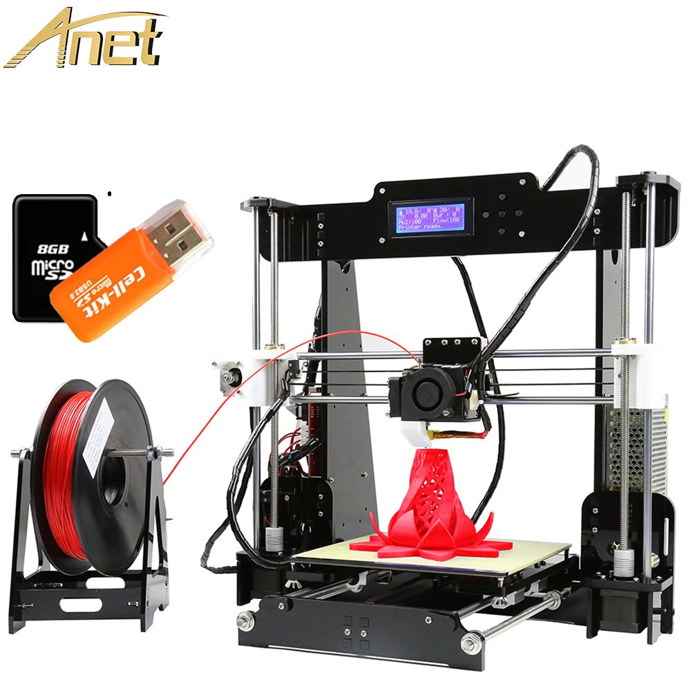 Affordable 3D Printer High Precision Anet A8 3D Printer Auto Level Reprap Prusa i3 DIY Printing Machine Print Size 220*220*240mm