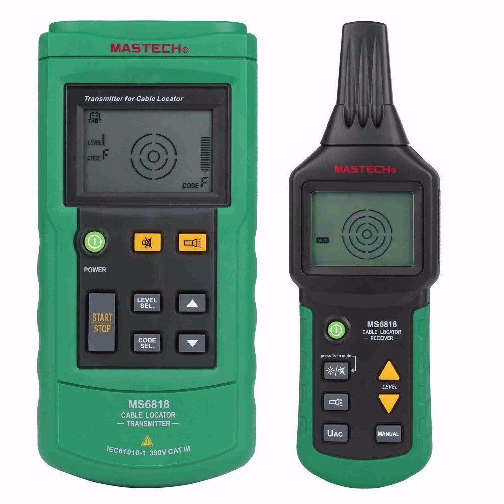 MASTECH MS6818 advanced wire tester tracker multi-function Cable detector 12~400V Pipe Locator Meter <font><b>pressure</b></font> transmitter