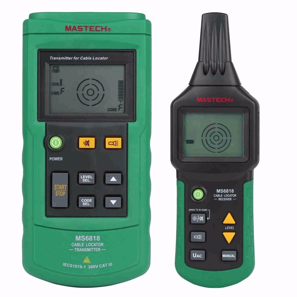 MASTECH MS6818 advanced wire tester tracker multi-function Cable <font><b>detector</b></font> 12~400V Pipe Locator Meter pressure transmitter