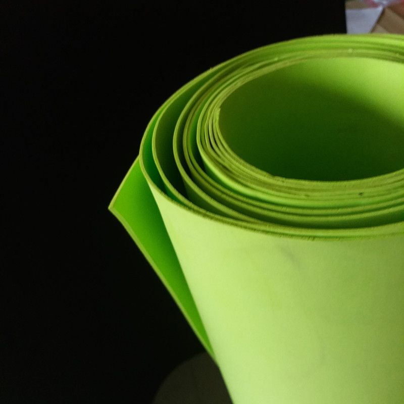 Citron verte 1.5mm-10mm feuilles de mousse Eva, feuilles D'artisanat, les projets Scolaires, facile à couper, feuille Perforée, matériau À La Main. taille 50*200 cm