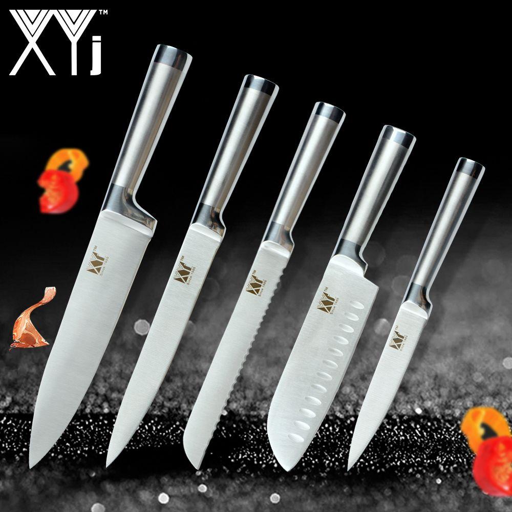 XYj Kochen Küche Messer Set Chef Messer Nahtlose Schweißen Edelstahl Messer Set Küche Werkzeug Zubehör Fleisch Cutter