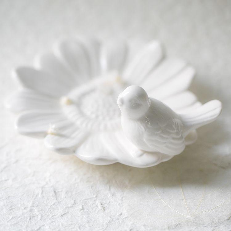 Белый фарфор птица украшения животных Керамика декоративные ремесла птица цветы маленькая тарелка хранения рабочего Storage для хранения юве...