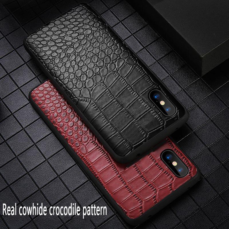 Étui pour téléphone d'affaires en cuir véritable pour iPhone X 6 6S 8 8plus étui de protection Anti-chute tout compris pour iPhone 7 XS XR