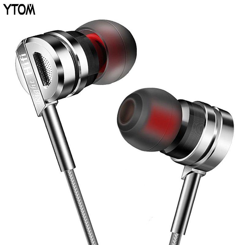 YTOM T3 clear bass auriculares con Micrófono de ALTA FIDELIDAD del auricular del metal Cancelación de ruido En la Oreja los Auriculares DJ XBS auricular para xiaomi iphone