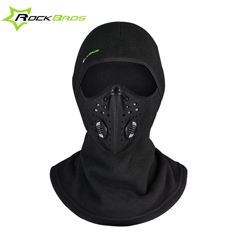 ROCKBROS Winter Gesichtsmaske Kappe Thermovlies Ski Maske Gesicht Snowboard Schild Hut Kalten Headwear Radfahren Gesichtsmaske Fiter Schal