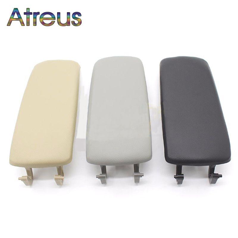 Atreus 1pcs Leather Car Styling Center Console Armrest Cover <font><b>Stickers</b></font> For Audi A6 C5 Accessories 1999-2005