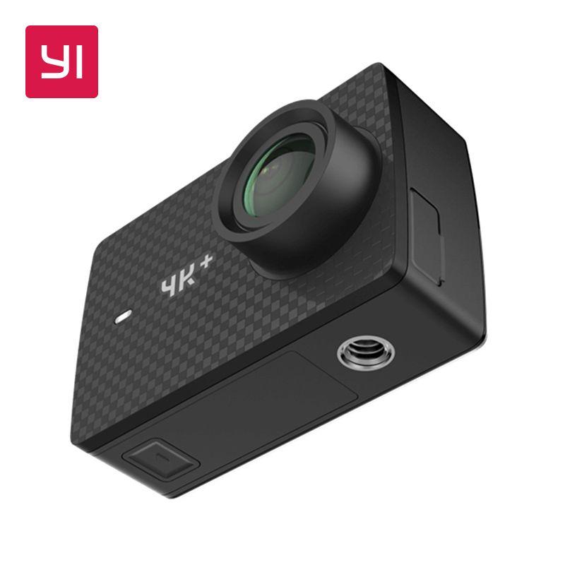 YI 4 k + (Plus) action Caméra seulement International Édition PREMIÈRE 4 k/60fps Amba H2 SOC Cortex-A53 IMX377 12MP CMOS 2.2 PMA RAM WIFI