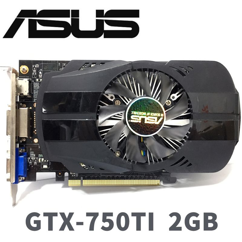 Asus GTX-750TI-OC-2GB GTX750TI GTX 750 TI 2G D5 DDR5 128 Bit PC Desktop Graphics Cards PCI Express 3.0 computer Graphics Cards