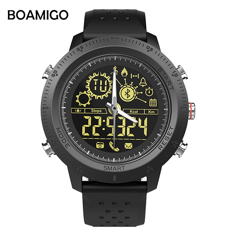 BOAMIGO Bluetooth Smart Watches Phone Call Smartwatch Sports Digital Watches Pedemeter Calories Bluetooth 4.0 For IOS Android