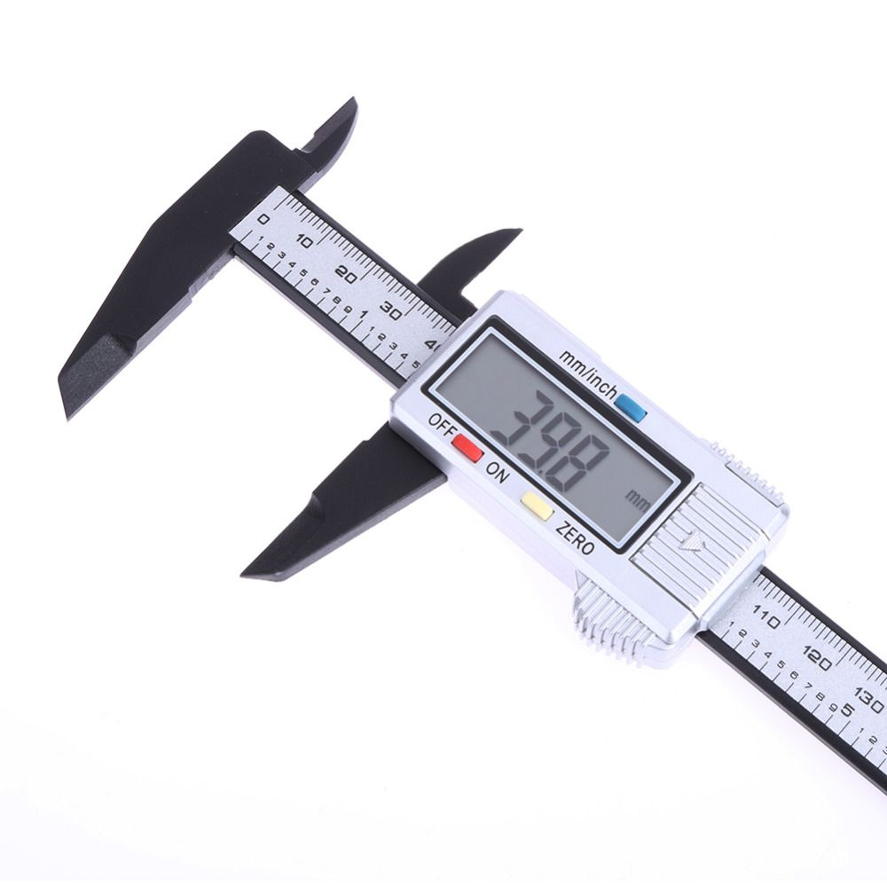 LCD 6'' 150mm Digital Caliper Vernier Ruler Accurate Micrometer Accurately Made of Carbon Fiber Composite